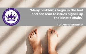 Lower back and knee issues can originate from issues with the feet.