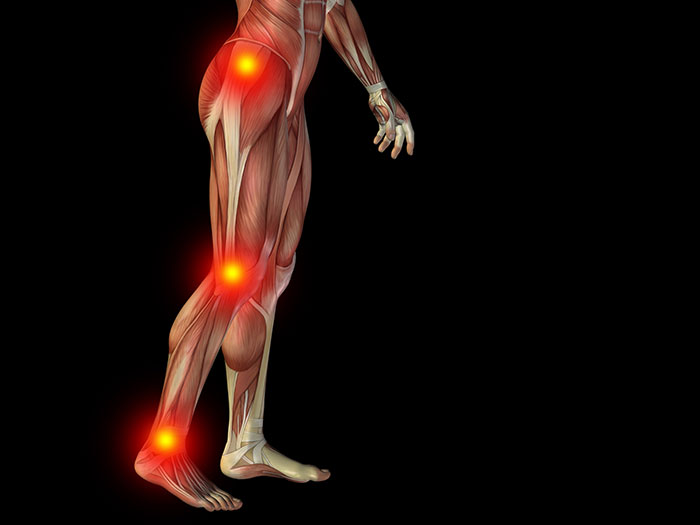 Back and knee pain can originate in the feet.